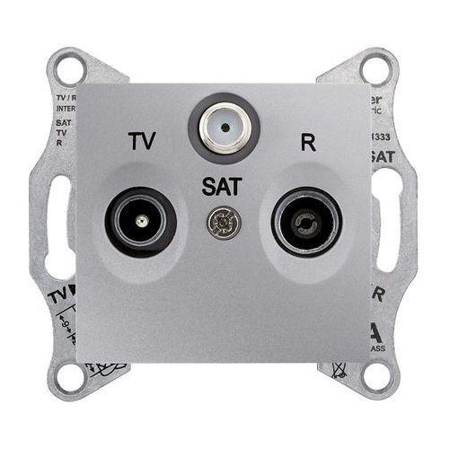 SEDNA Gniazdo antenowe R/TV/SAT (4dB) przelotowe aluminium SDN3501460 SCHNEIDER, SDN3501460/SCH