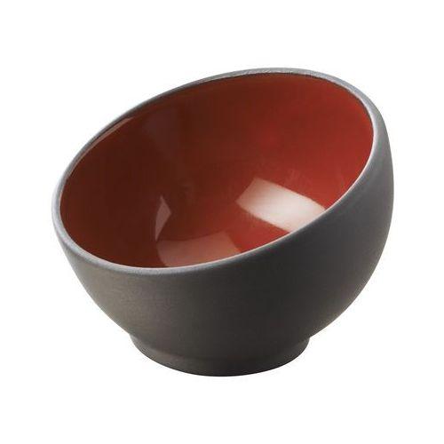 Miseczka asymetryczna 0,04 l, czarno-czerwona | REVOL, Solid