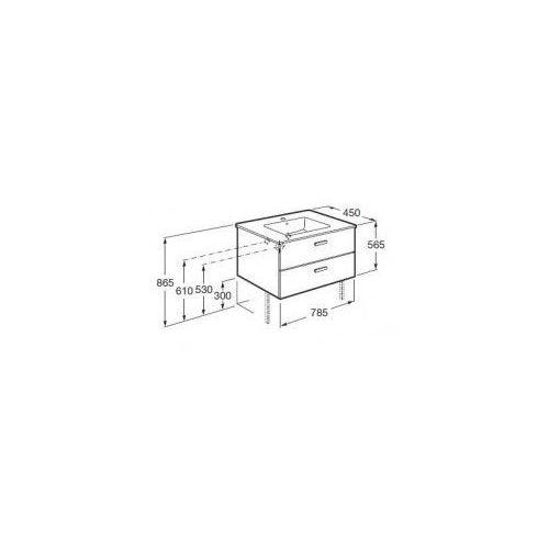 ROCA Victoria Basic Unik szafka z szufladami biały połysk + umywalka 80 A855852806