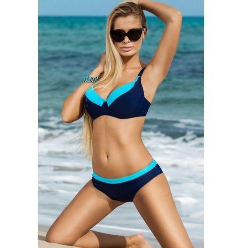 Kostium dwuczęściowy Model Katrin Navy/Sky Blue, kolor niebieski