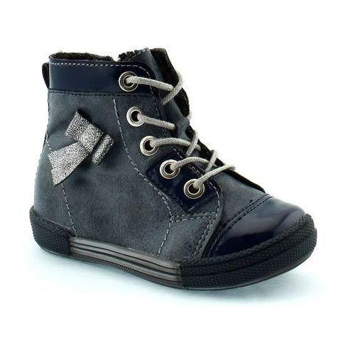 Buty zimowe dla dzieci Kornecki 04794 - Srebrny ||Granatowy, kolor szary