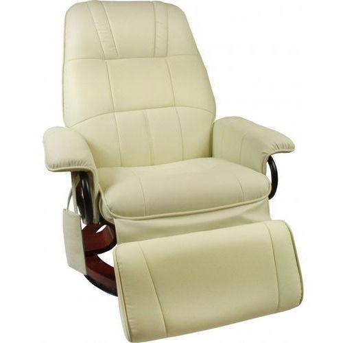 Fotel masujący wypoczynkowy z masażem + ogrzewanie - beżowy marki Regoline