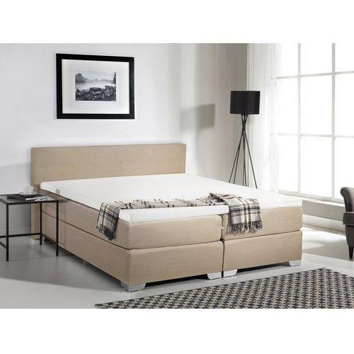 Łóżko kontynentalne 160x200 cm - Łóżko tapicerowane - PRESIDENT beżowe, kolor beżowy