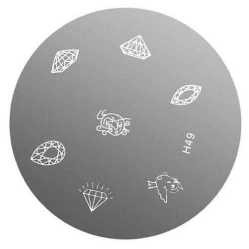 Neonail metal plate for nail art płytka metalowa do zdobień - 21