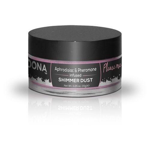 Lśniący jadalny puder do ciała z feromonami - Dona Shimmer Dust 25 ml Różowy