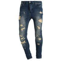 SIKSILK SIKSILK DROP CROTCH SKIMSHRED Jeans Skinny Fit dark blue, jeansy