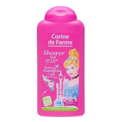 Corine de Farme Disney Księżniczki, Żel pod prysznic i szampon 2w1, 250ml (3468080148253)