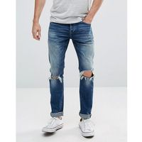 Only & sons skinny jeans with repair knee details - blue