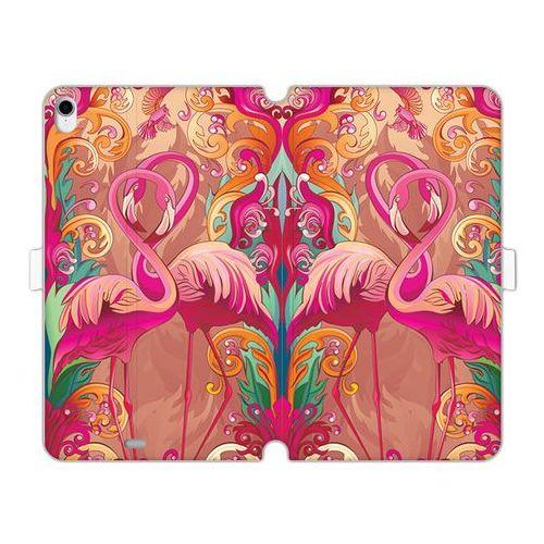 Apple iPad Pro 11 - etui na tablet Wallet Book Fantastic - zakochane flamingi