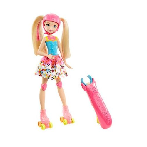 Barbie dtw17 barbie video game hero barbie na wrotkach 3+