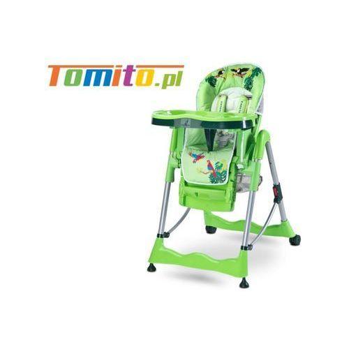 Caretero Wysokie krzesełko do karmienia magnus green
