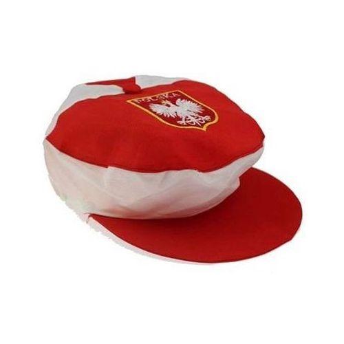 Czapka kibica z daszkiem biało - czerwoni - 1 szt. marki Go