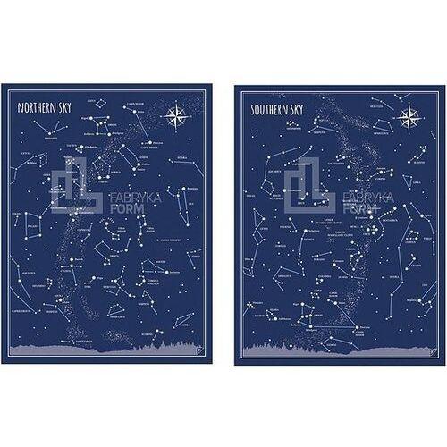 Plakat Nothern Sky i Southern Sky w zestawie 2 szt.