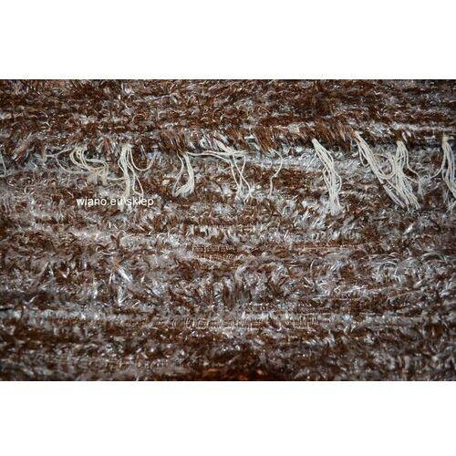 Chodnik bawełniany\pled ręcznie tkany brązowo-srebrzysty 65x120 cm
