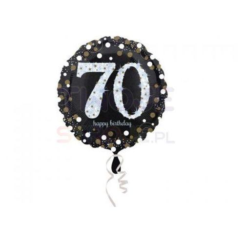 Twojestroje.pl Balon 70 urodziny czarny 17'' 43cm (0026635337410)
