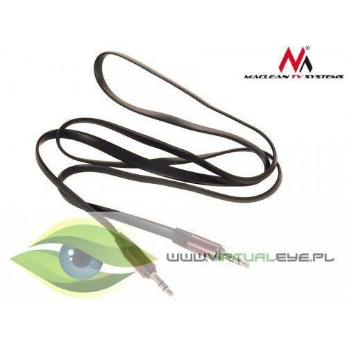 Maclean  przewód jack 3.5mm, płaski 2m, metalowy wtyk, black maclean mctv-695 b (5902211100836)