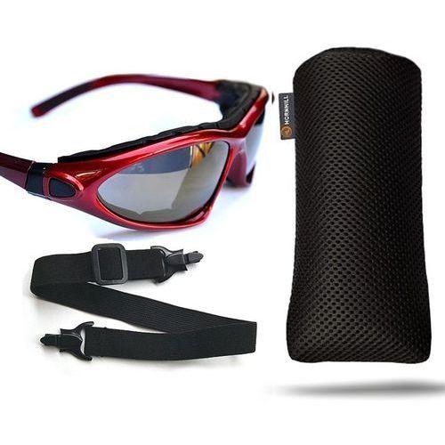 Reis Okulary przeciwsłoneczne na rower uv etui pasek i2