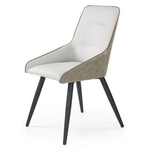 Tapicerowane krzesło Ormer - popiel + beton