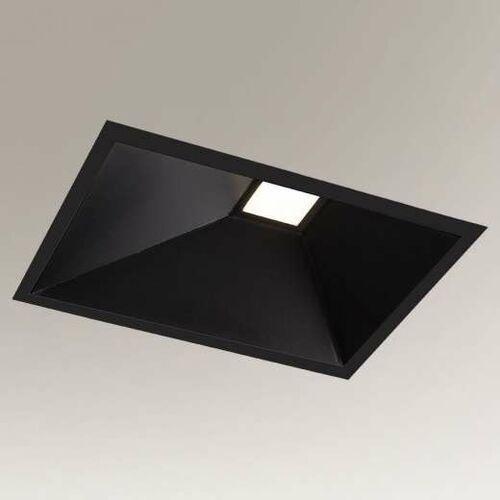 Wpust LAMPA sufitowa UBE IL 3369/LED/CZ Shilo prostokątna OPRAWA podtynkowa LED 10W oczka metalowe czarne (5903689933698)