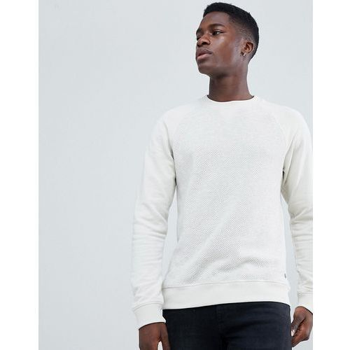 knitted jumper with jersey sleeves - stone, Esprit