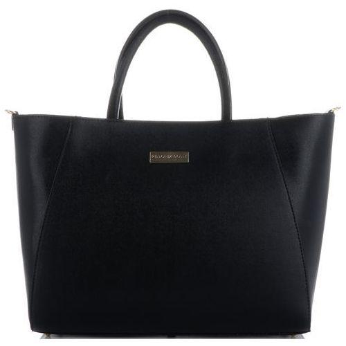 Vittoria Gotti Torebki Skórzane Duży firmowy Włoski Kufer w rozmiarze XXL Czarne (kolory(, kolor czarny