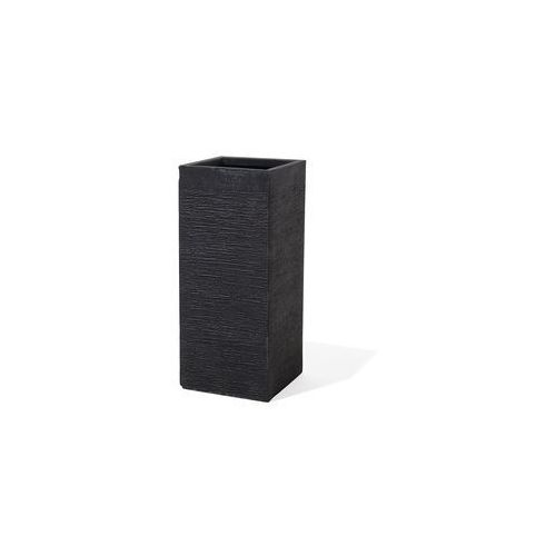 Doniczka czarna kwadratowa 26 x 26 x 60 cm dion marki Beliani