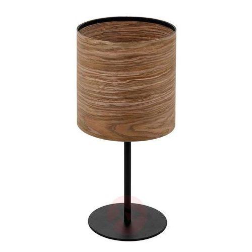 Eglo Cannafesca 98551 lampka stołowa biurkowa 1x40W E27 czarna/brązowa (9002759985516)