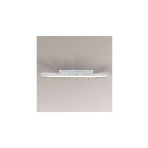 Plafon LAMPA sufitowa OTARU 8039/LED/BI Shilo łazienkowa OPRAWA prostokątna LED 22W listwa IP44 biała