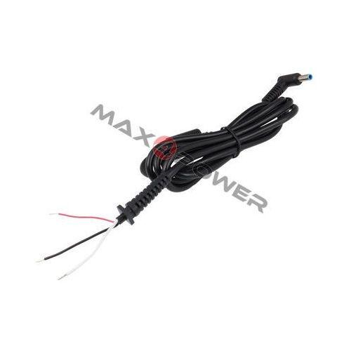 Kabel prądu stałego DC zasilacza do laptopa wtyk kątowy 4.5x3.0mm + pin 1.1m Asus/HP, DCCAB4530P