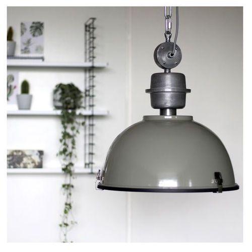 Industrialna lampa wisząca zielono-szara stal - gospodin marki Steinhauer