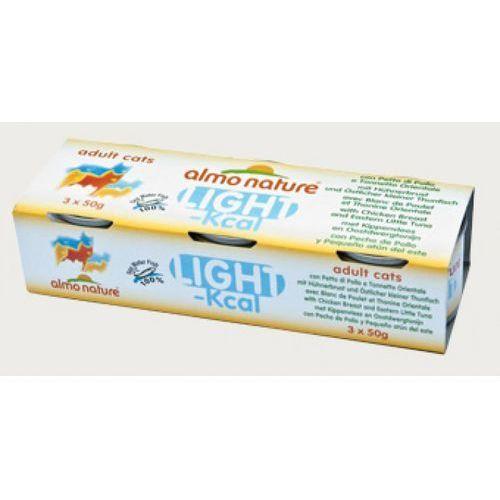 ALMO NATURE Light Pierś z kurczaka i tuńczyk bonito - puszka 2x(3x50g)
