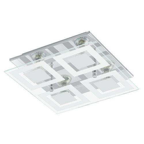 Plafon almana 94226 lampa sufitowa ścienna 4x3w gu10-led chrom/biały marki Eglo