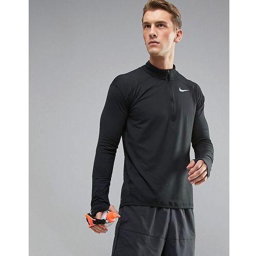 dri-fit element half-zip sweat in black 857820-010 - black marki Nike running