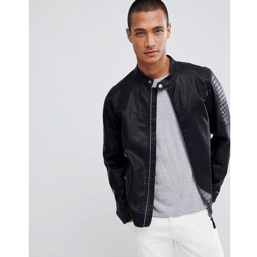 faux leather biker jacket in black - black marki Tom tailor
