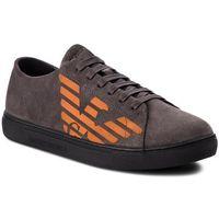 Sneakersy EMPORIO ARMANI - X4X238 XF188 00460 Darkgrey, kolor szary