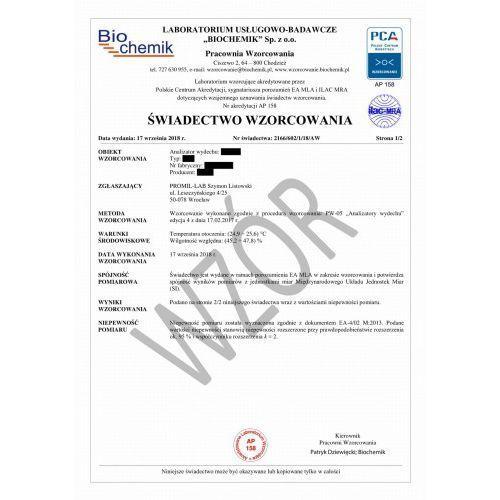 Wzorcowanie alkomatu Intox DMT® Dual Sensor