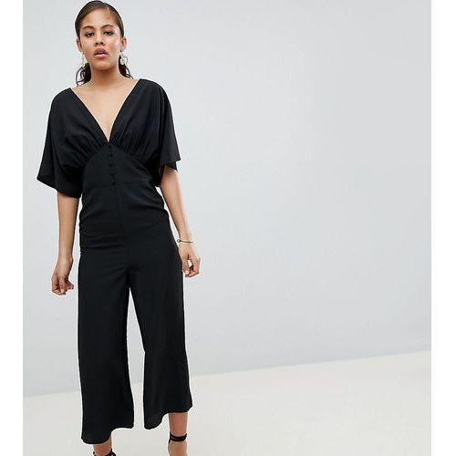727c9345606778 Kombinezony damskie · ASOS DESIGN Tall Tea Jumpsuit With Kimono Sleeve And  Button Detail - Black