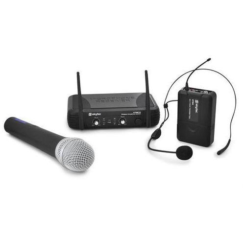 Skytec Bezprzewodowy zestaw mikrofonowy  stwm722 uhf
