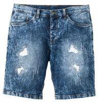 """Bermudy dżinsowe ze stretchem bonprix ciemnoniebieski """"used, jeans"""