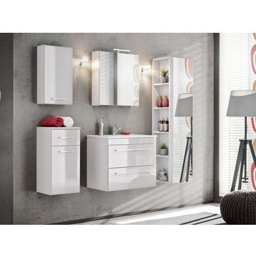 Zestaw molly - meble łazienkowe - kolor biały marki Shower design