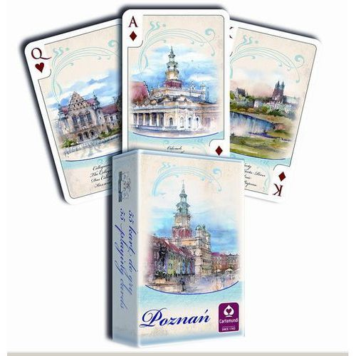 Karty do gry akwarele poznań 55 listków marki Cartamundi