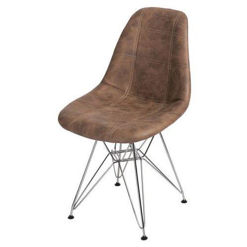 Krzesło P016 DSR Pico brązowe, kolor brązowy