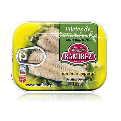 Filety z sardynek portugalskich w oleju roślinnym 100g marki Ramirez