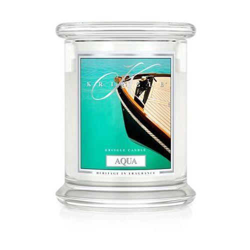 AQUA świeca zapachowa Kringle Candle TURKUSOWA GŁĘBIA Średni słoik 16oz, 454g, 2 knoty