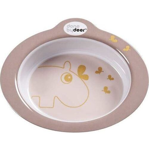 Miska antypoślizgowa contour hipopotam różowa marki Done by deer