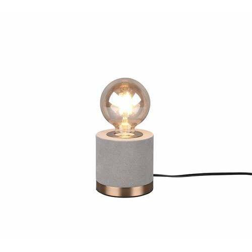 Trio RL Judy R50691011 lampa stołowa lampka 1x40W E27 szara/brązowa (4017807481044)
