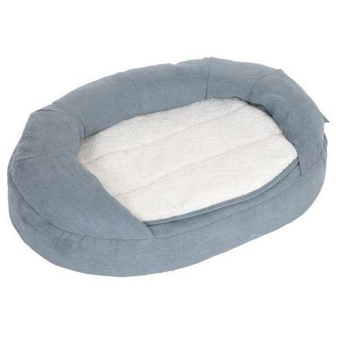 Ortopedyczne legowisko dla psa memory oval, szare - dł. x szer. x wys.: 100 x 65 x 22 cm marki Zooplus exclusive