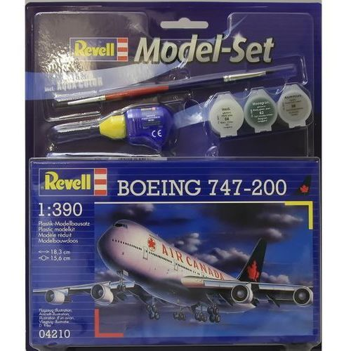 Revell Model boeing 747-200 1:390 zestaw z farbami (4009803642109)
