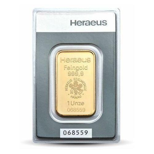 1 uncja sztabka złota - 15dni marki Argor-heraeus, pamp, perth mint