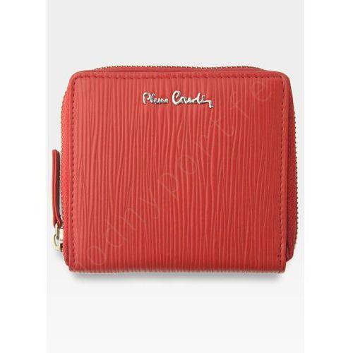 c52d71f9afff2 Portfel damski skórzany wyjątkowa faktura tilak10 mk01 czerwony marki  Pierre cardin